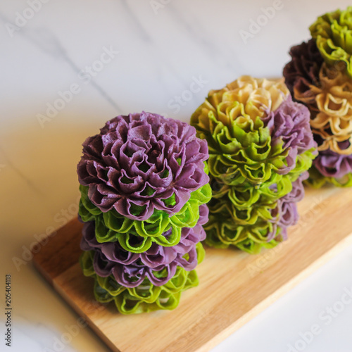Thai Cookie Crispy Lotus Blossom Cookie Stock Photo And Royalty