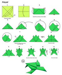 折纸小青蛙..~,Origami Crafts for Kids, Free Printable Origami ... | 240x200