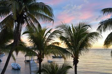 Tropical sunset, Mauritius
