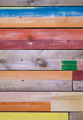 motley colored background painted planks