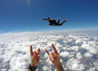 Skydiver Cloudscape