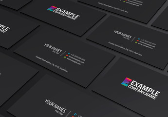 Grayscale Business Card Layout with Colorful Monogram