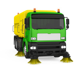 Street Sweeper Machine Isolated