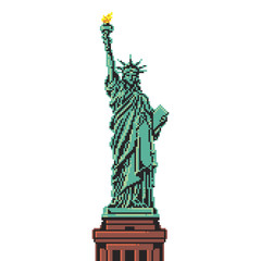 Pixel Statue of Liberty