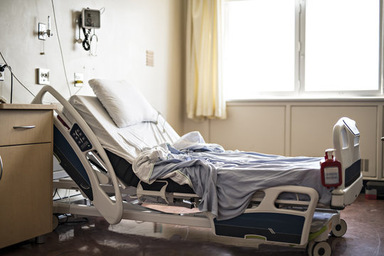 Hospital room with beds and comfortable medical equipped