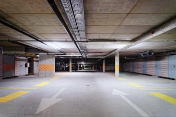Underground Parking garage modern apartment house