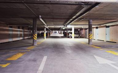 Underground Parking garage of modern house