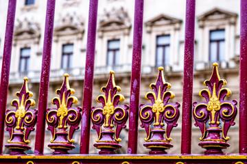 old elegant fence