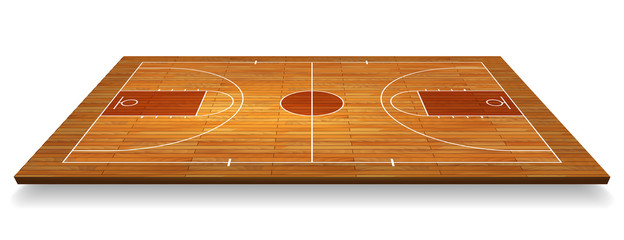 Estores personalizados con tu foto Perspective Basketball court floor with line on wood texture background. Vector illustration