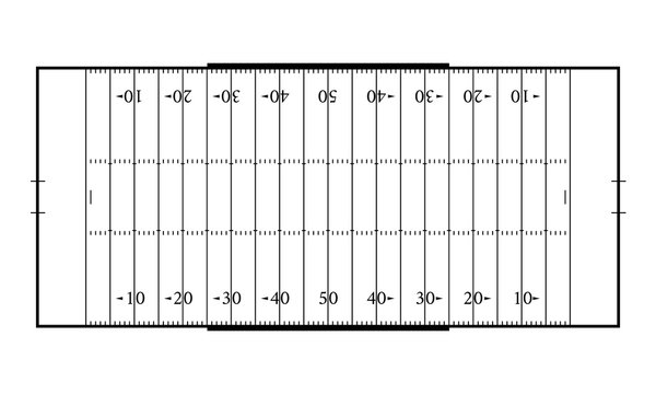 American football field. Sport background. Line art style