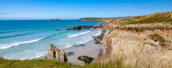 Coastline Gwithian Cornwall England UK