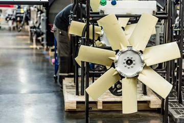 Close-up shot of engine fan
