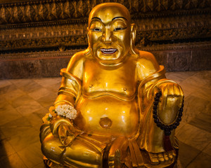 This is a big belly button on the buddha