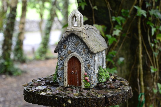 Magic fairy house in fairy-tale village in Bunratty Castle