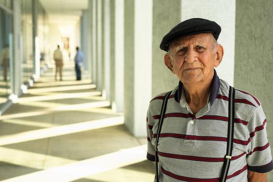 Elderly man outdoor portrait