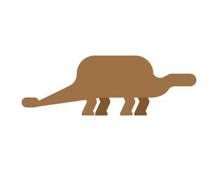 Ankylosaurus dinosaur isolated. Ancient animal. Dino prehistoric monster. Beast is Jurassic period. Vector illustration.