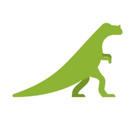 Ceratosaurus dinosaur isolated. Ancient animal. Dino prehistoric monster. Beast is Jurassic period. Vector illustration.