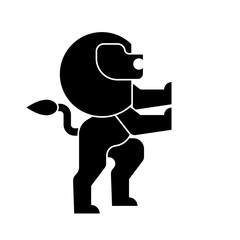Lion heraldic symbol. Leo Sign Animal for coat of arms. Vector illustration