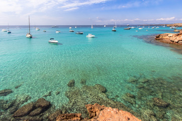 Cala Saona beach, Formentera, Spain