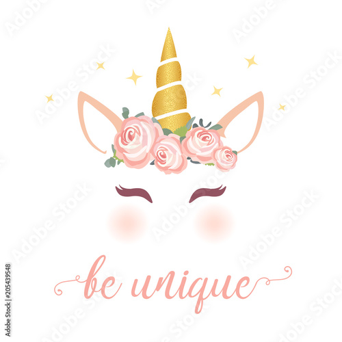 Quot Cute Unicorn Vector Graphic Design Cartoon Unicorn Head