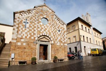 church in Asciano, Tuscany, Italy