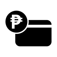 Peso icon credit card icon