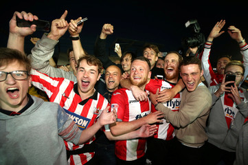 League Two Play Off Semi Final Second Leg - Exeter City vs Lincoln City