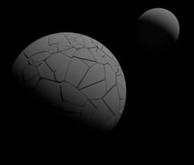 崩壊した惑星のイメージ