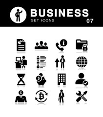 Vector management and  business icon set.