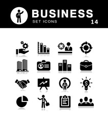 Business icons collection vector set.