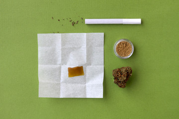Cannabis Concentrates (Shatter & Kief), Pre-Rolled Marijuana Cigarette (Joint)