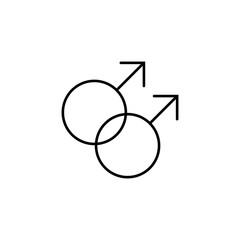 gays homosexuality relationship symbol line black icon