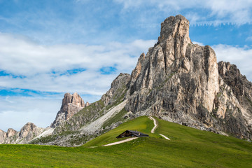 Giau Pass, Dolomites mountain