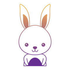 cute rabbit icon over white background, colorful design. vector illustration