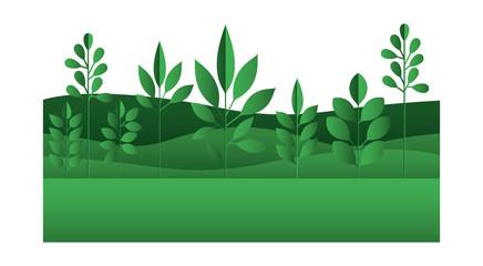 field landscape natural scene vector illustration design
