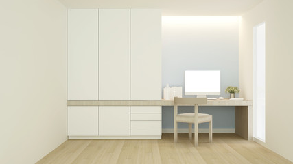Working Space for artwork residence - Workspace in home office or apartment - 3D Rendering