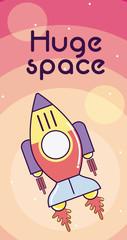 Huge space card