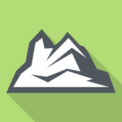 Ice mountain icon. Flat illustration of ice mountain vector icon for web design