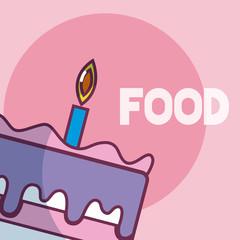 Birthday cake food cartoon
