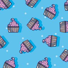 Cupcake pattern background