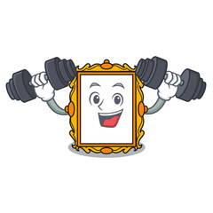 Fitness picture frame character cartoon