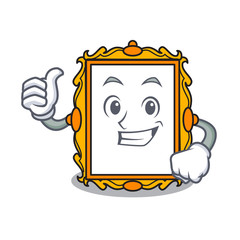 Thumbs up picture frame character cartoon