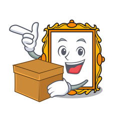 With box picture frame character cartoon