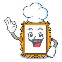 Chef picture frame character cartoon