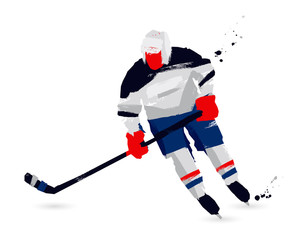 Ice hockey player. Sport concept
