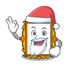 Santa picture frame mascot cartoon
