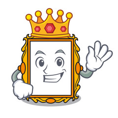 King picture frame mascot cartoon