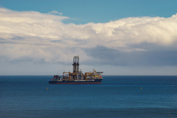 Drillship used for oil and gas offshore drilling