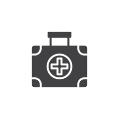 First aid kit vector icon. filled flat sign for mobile concept and web design. Medical box simple solid icon. Symbol, logo illustration. Pixel perfect vector graphics