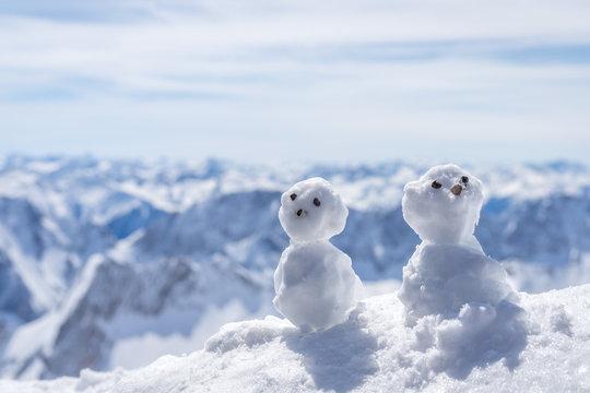 Schneemänner auf der Zugspitze